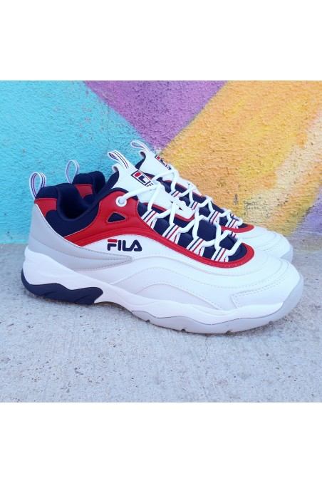 Fila Ray Cb Low White Red...